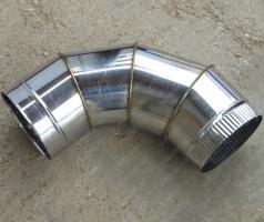 Одноконтурный отвод 130 мм 90 из нержавеющей стали 0,8 мм цена