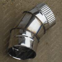 Купите одноконтурный отвод 200 мм 45 (135) из нержавеющей стали 0,8 мм