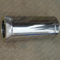 Купите сэндвич трубу 120/200 мм 500 мм из нержавеющей стали AISI 304 0,8 мм