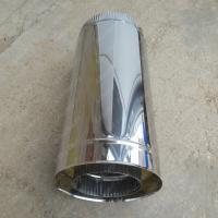 Сэндвич труба 130/210 мм 1000 мм из нержавеющей стали AISI 304 0,8 мм цена