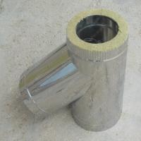 Купите сэндвич-тройник 115/200 мм 45 (135) из нержавеющей стали AISI 304 0,8 мм
