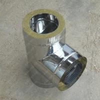 Сэндвич-тройник 130/210 мм 45 (135) из нержавеющей стали AISI 304 0,8 мм цена