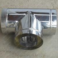 Сэндвич-тройник 300/380 мм 90 из нержавеющей стали AISI 304 0,8 мм