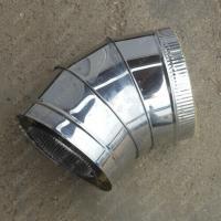 Купите сэндвич-отвод 115/200 мм 45 (135) из нержавеющей стали AISI 304 0,8 мм