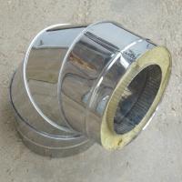 Сэндвич-отвод 120/200 мм 90 из нержавеющей стали AISI 304 0,8 мм цена