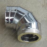 Сэндвич-отвод 180/260 мм 90 из нержавеющей стали AISI 304 0,8 мм