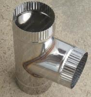 Купите одноконтурный тройник 130 мм 90 из нержавеющей стали AISI 304 0,8 мм