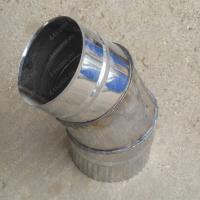 Одноконтурный отвод 115 мм 45 (135) из нержавеющей стали AISI 304 0,8 мм цена
