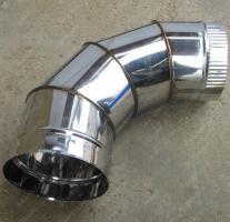 Купите одноконтурный отвод 130 мм 90 из нержавеющей стали AISI 304 0,8 мм
