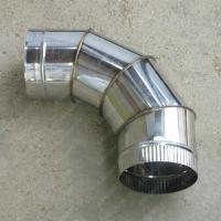 Одноконтурный отвод 130 мм 90 из нержавеющей стали AISI 304 0,8 мм
