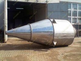 Бункер цилиндроконический V=6,9 м3 для циклона пылеуловителя