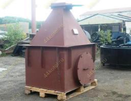 Бункер пирамидальный V=1,7 м3 для циклона пылеуловителя