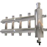 Коллектор с гидрострелкой для отопления на 5 контура 60 кВт рабочее давление 10 атм