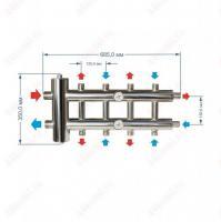 Коллектор с гидрострелкой для отопления на 5 контура 60 кВт схема и размеры