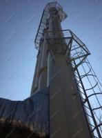 Смонтированная дымовая труба ф1100x1300 мм, высота 25, 30 м