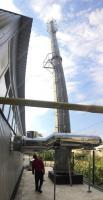 Смонтированная дымовая труба 2х350x1000 мм, высота 25, 30 м
