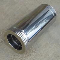Сэндвич труба 115/200 мм 1 м из нержавеющей стали 0,8 мм и оцинковки