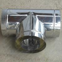 Сэндвич-тройник 200/280 мм 90 из нержавеющей стали 0,8 мм
