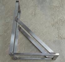 Купите консоль стеновую 250х750 мм до 230 мм стальная профильная трубу