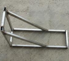 Консоль стеновую 450х750 мм до 430 мм стальная профильная труба цена