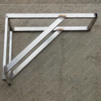 Консоль стеновую 450х750 мм до 430 мм стальная профильная труба
