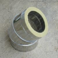 Сэндвич-отвод 130/210 мм 45 (135) из нержавеющей стали 0,8 мм цена