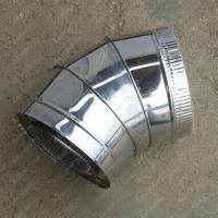 Купите сэндвич-отвод 130/210 мм 45 (135) из нержавеющей стали 0,8 мм
